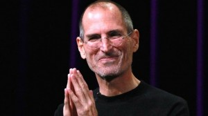 Steve Jobs happy
